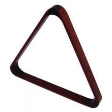 Треугольник ПУЛ De Luxe 57,2мм деревянный красное дерево