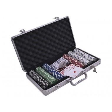 Покерный набор на 300 фишек без номинала