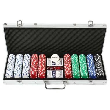 Покерный набор на 500 фишек без номинала